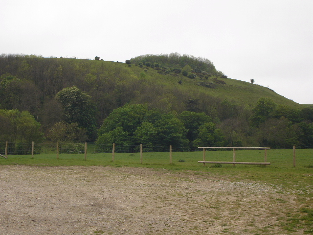Hills behind Beachborough House