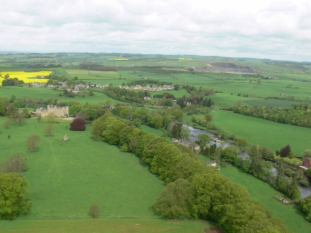 Aerial View Of Barrasford Northumberland Tracking North