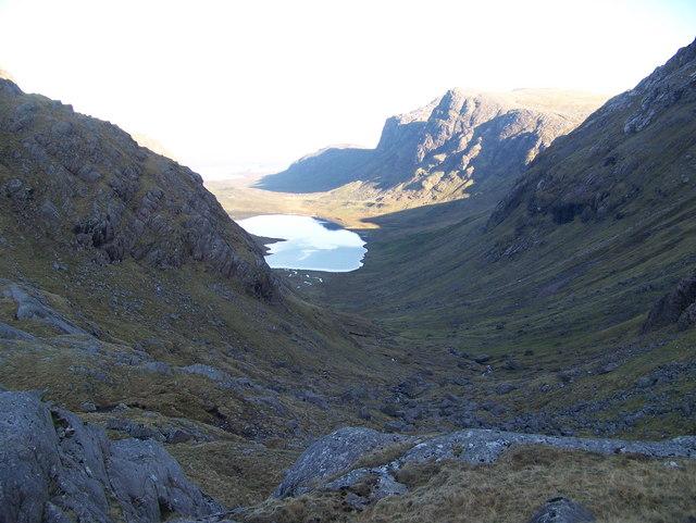 Pass between Dubh Loch and Gorm Loch More