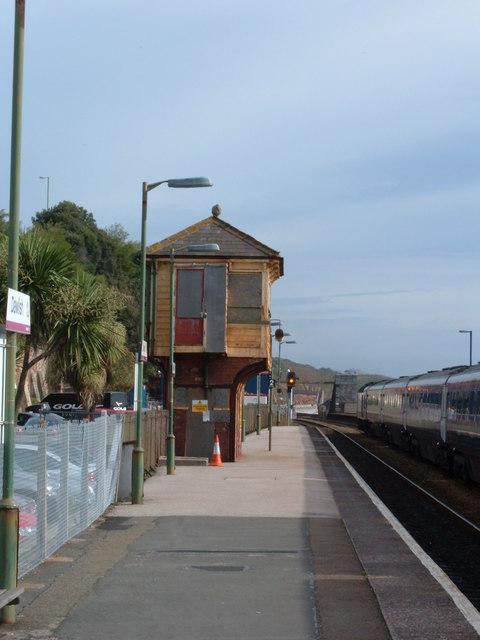 Disused signal box at Dawlish Station