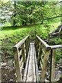 SD7422 : Footbridge Rossendale Way by liz dawson