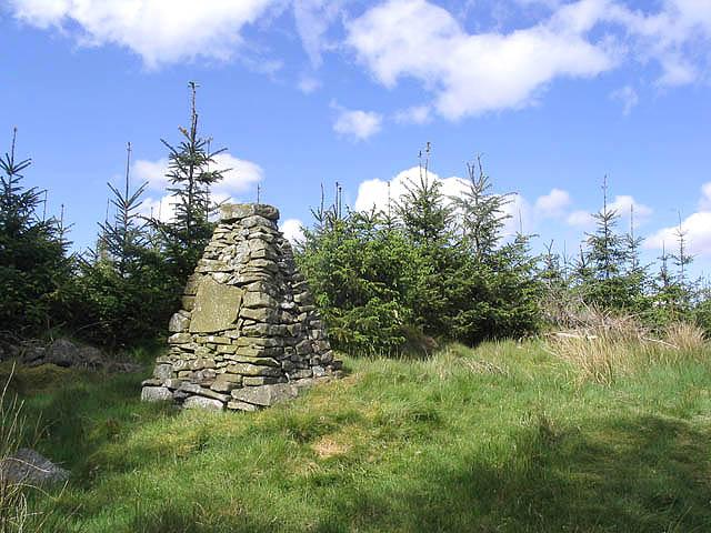Memorial cairn in Dalswinton Wood