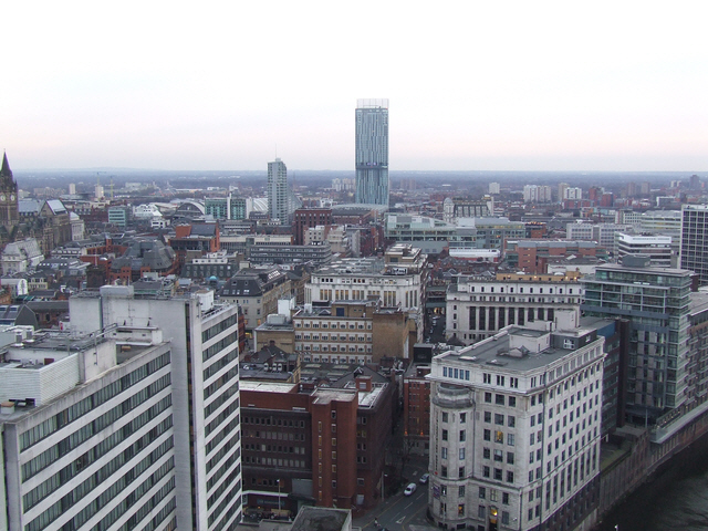 Beetham Tower and the Manchester skyline