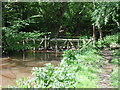 SJ7405 : Flooded Footbridge by Gordon Griffiths