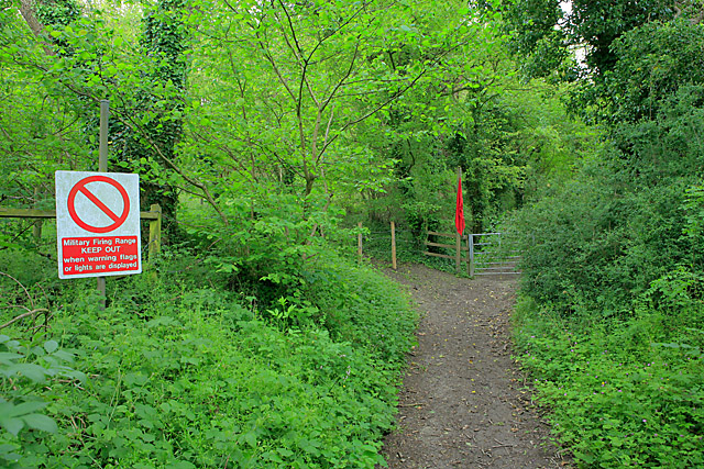 Footpath enters danger zone of military firing range, Chilcomb