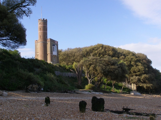 Luttrell's Tower and Eaglehurst foreshore, Stanswood Bay