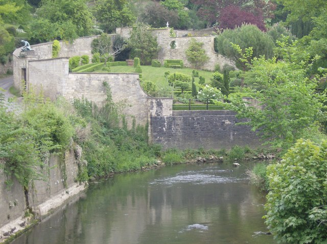 Topiary above the River Frome