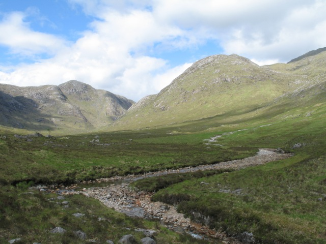 River Gour and view towards Sgurr na Làire
