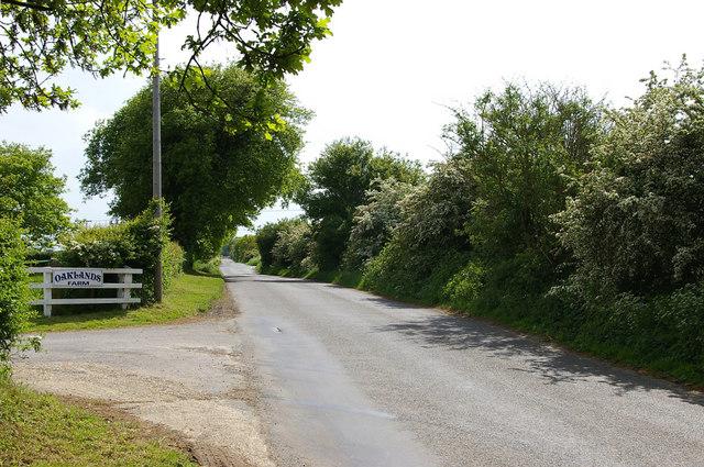 Sidegate Road & Entrance to Oaklands Farm