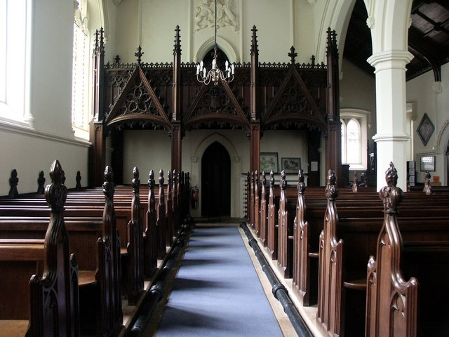 Interior of St Michael and All Angels, Hackthorn