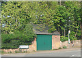 SO6323 : Bus stop at road junction, Weston under Penyard by Pauline E