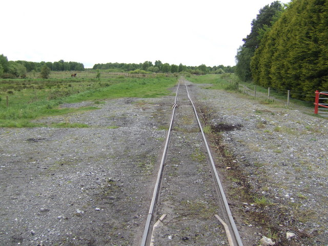 Railway line west of Cushina