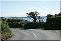 SW8536 : Sharp bend on the road to St. Just in Roseland by Fred James