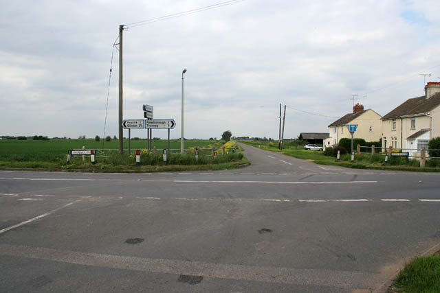 Cross roads on Thorney Road