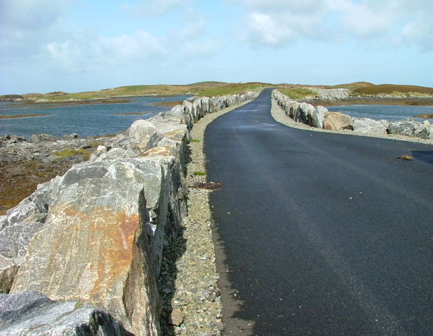 Causeway on Loch Chill Eireabhaigh