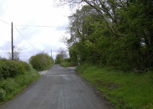 Cross-roads at Cynala, Brecknock.