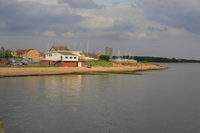 Weston Point seen from the jetty