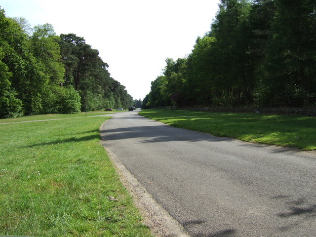 Road leading to the Sandringham Visitor Centre.