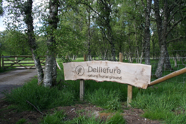 Delliefure natural burial ground.