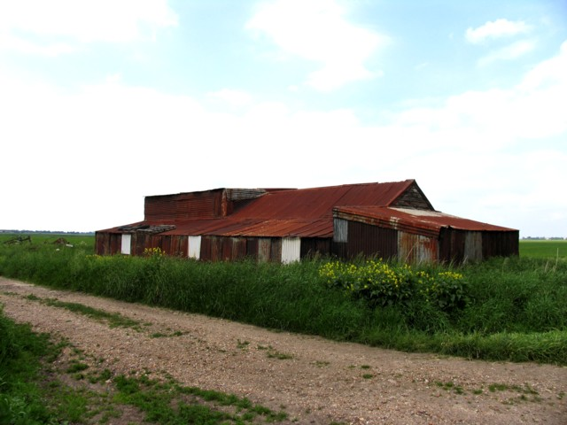 Corrugated iron building