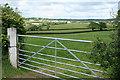 SX3589 : St Giles on the Heath: towards the village by Martin Bodman