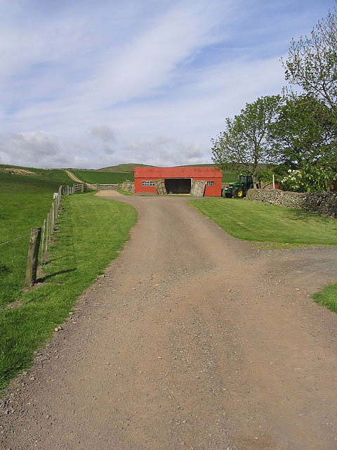 Public bridleway at Wooler Common