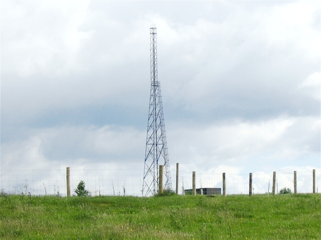 Mast northwest of Crychan forest.