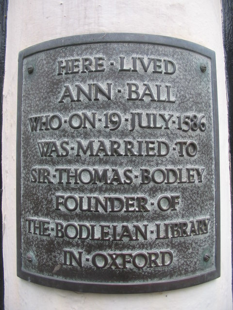 Plaque on Ann Ball's house