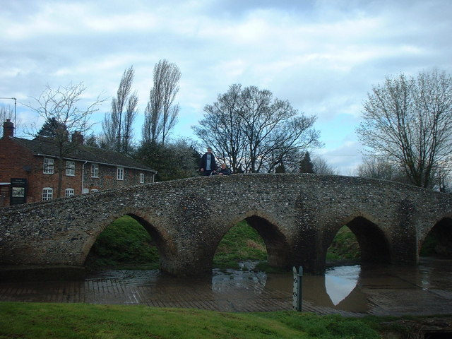 Packhorse bridge at Moulton