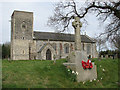 TG2425 : All Saints Church and War Memorial, Skeyton by Evelyn Simak