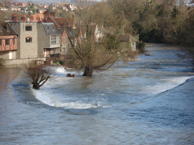 Lower weir at Ludlow