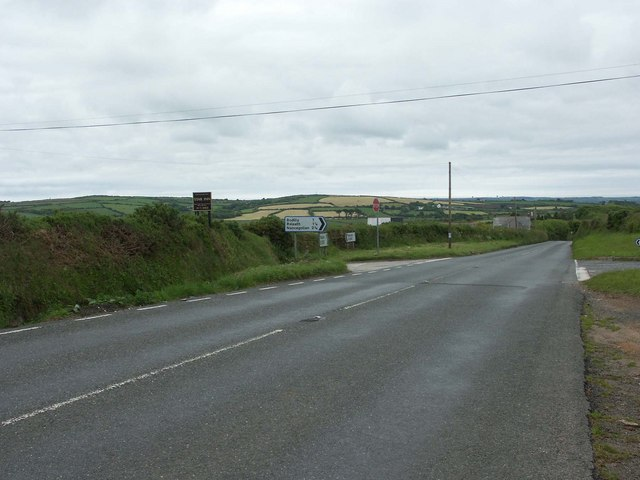 Cross roads on the B3297
