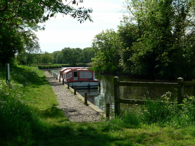 Moorings at Geldeston Lock
