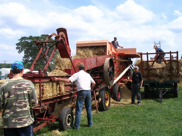 Garvie threshing machine