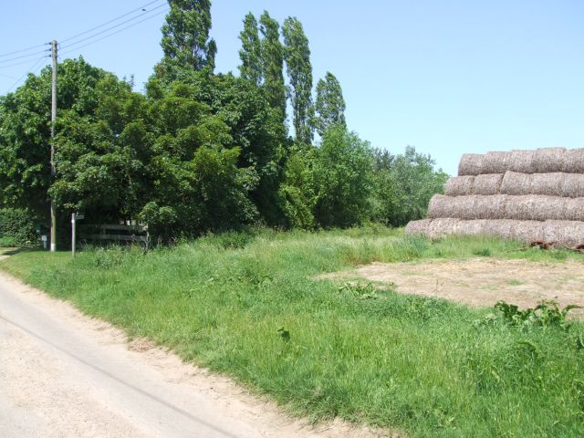 Straw Bales by the Footpath at Carr's Farm