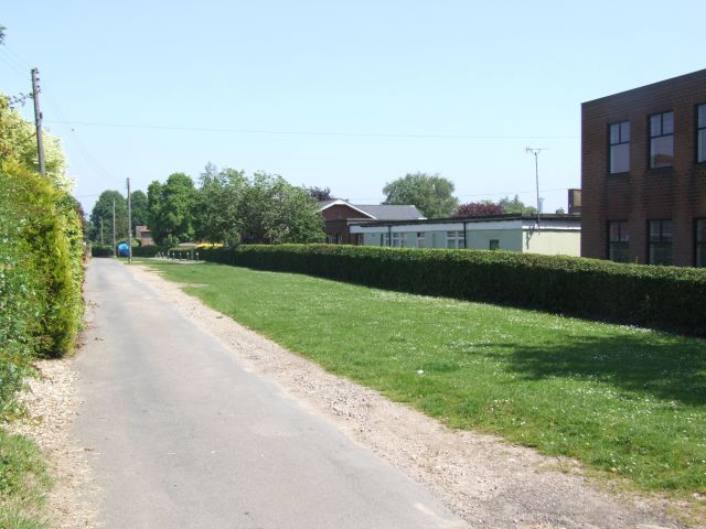 Looking along Broomhill Lane, Reepham