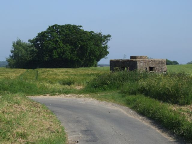 Pill Box on Roadside near Brandiston