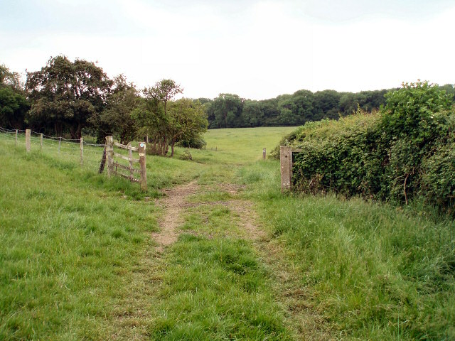 Gate on bridleway