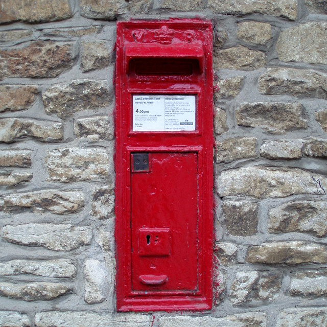 Easton Maudit post box