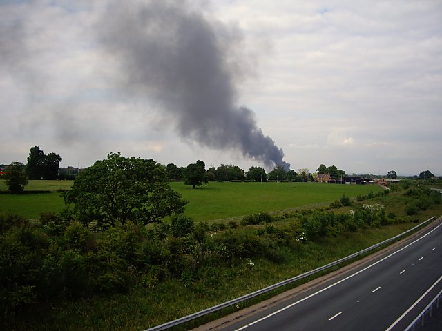 fire in the distance  u00a9 ian bottomley    geograph britain and ireland
