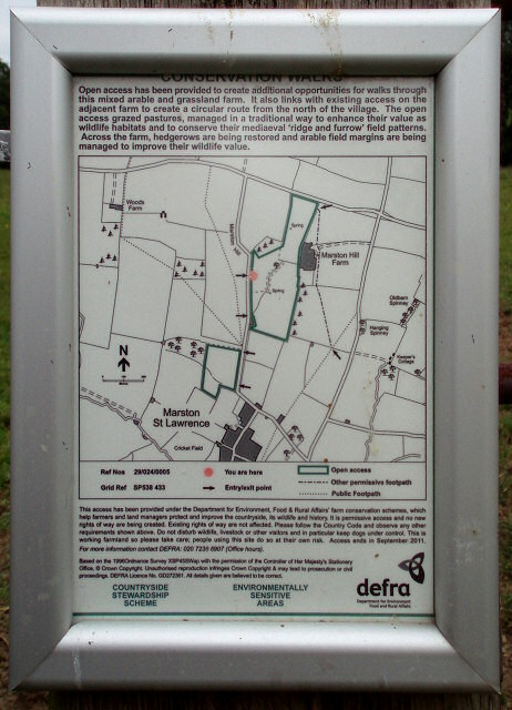 Open Access area sign