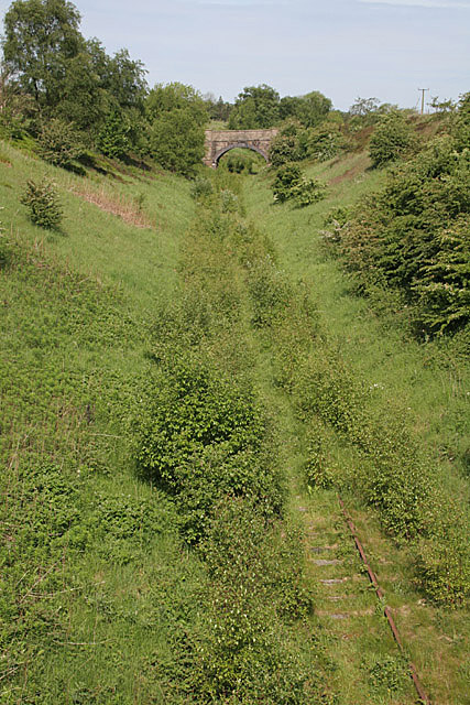 Old railway cutting near Winkhill Station