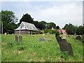 SM9220 : Camrhos/Camrose churchyard and schoolroom by ceridwen