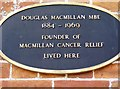 ST6432 : Douglas Macmillan plaque by Graham Horn