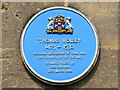 SU1868 : St Peter's church, High Street, Marlborough - blue plaque by Brian Robert Marshall