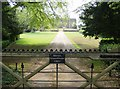 SP4349 : Driveway to Farnborough Hall by Graham Horn