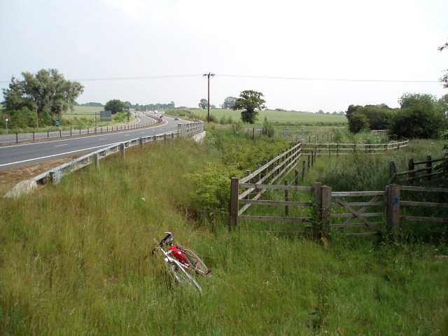 Bridleway onto A43