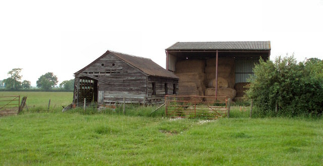 Old and new barns