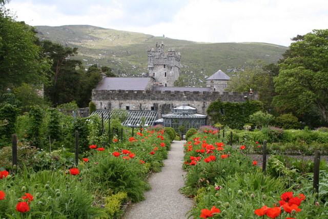 Glen Veagh Castle and gardens, Co Donegal