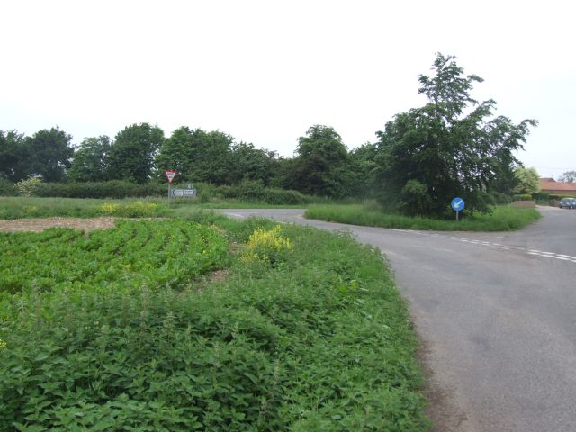 Junction on Shipdham to Dereham Road, near Bird's Corner